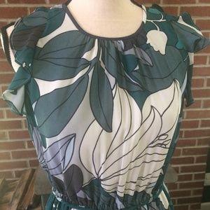 LOFT Flutter Sleeve Dress with belt